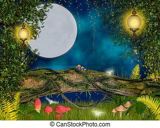 mágico, noche