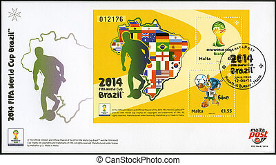 málta, -, 2014:, elszánt, a, 2014, fifa, világbajnokság, brazília, június, 12