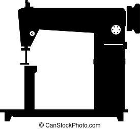 máquina, âmago, cosendo, costure, folheado