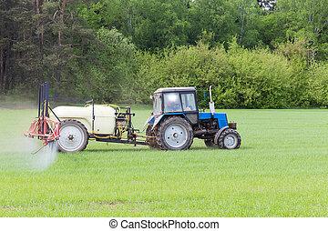 máquina, agrícola