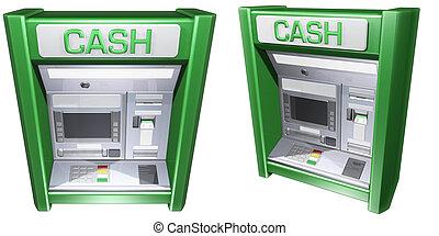 máquina, atm, dinheiro