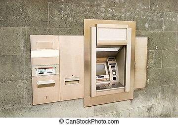 máquina, banco