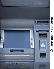 máquina, caixa automática