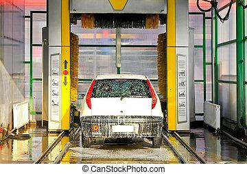 máquina, carwash