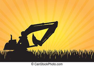 máquina, construção