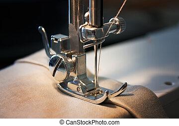 máquina, costura