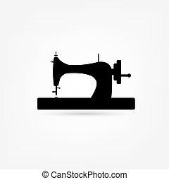máquina, costura, icono