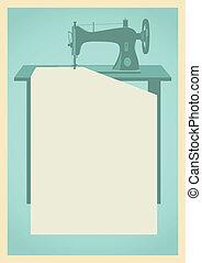 máquina, costura, plano de fondo