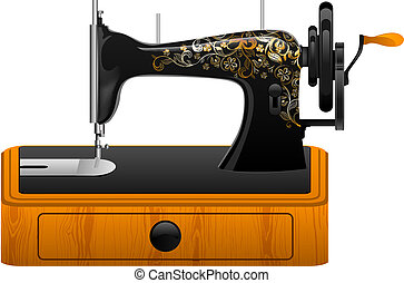 máquina, costura, retro