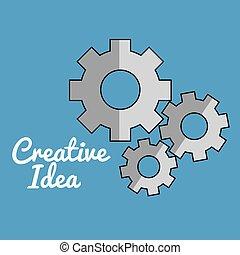 máquina, criativo, idéias, engrenagens