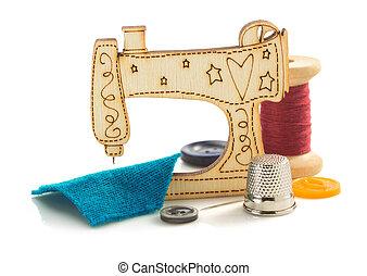 máquina de costura, brinquedo, branco