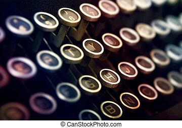 máquina de escribir teclado