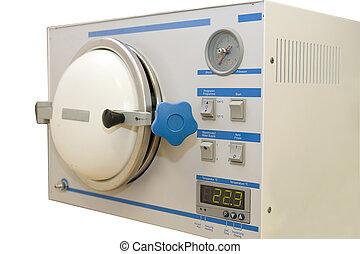 máquina, esterilizar