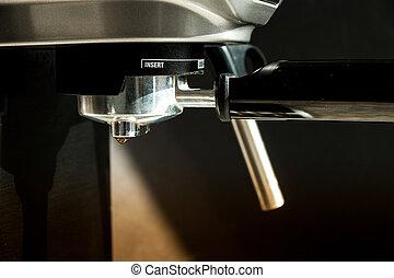máquina, fabricante café