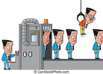 máquina, fracasso, cloning