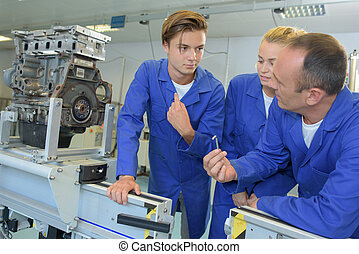 máquina, ingenieros