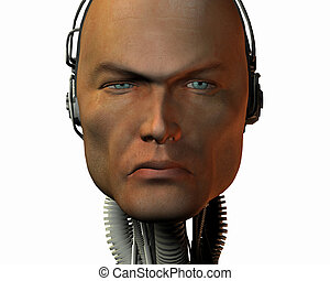 máquina, inteligencia, androide, cibernético