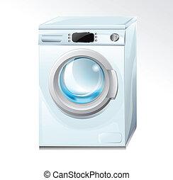 máquina, lavado