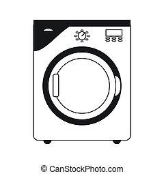 máquina, lavando, ícone