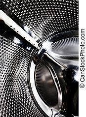 máquina, lavando, fundo