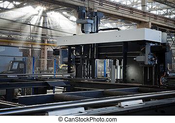 máquina, novo, metalworking