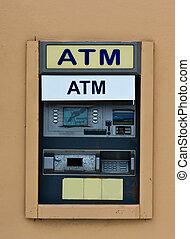 máquina, operação bancária,  (atm), automatizado