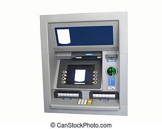 máquina, operação bancária, atm