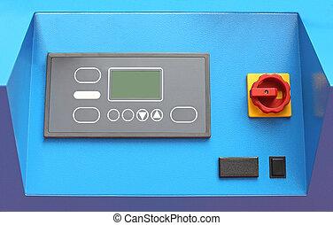 máquina, panel de control