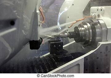 máquina, perforación