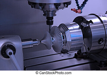 máquina, perforación, workpiece