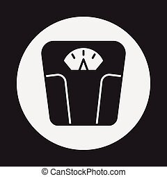 máquina, pesar, icono