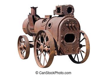 máquina, por, motor vapor