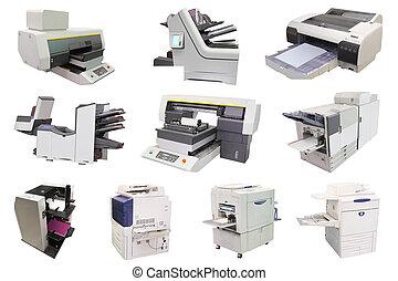 máquina, profesional, impresión