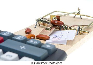 máquina, rato, contabilidade, contador, armadilha, feijão, ...