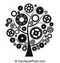 máquina, roda, cogwheel, vetorial, engrenagem