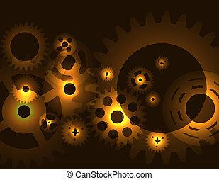 máquina, roda engrenagem, cogwheel, pattern., vetorial, illustration.