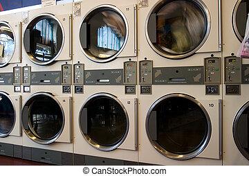 máquina, secadores