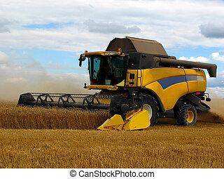 máquina segador de cosechadora