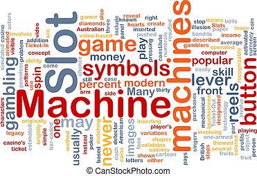 máquina slot, conceito, fundo
