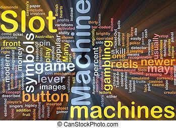 máquina slot, glowing, conceito, fundo