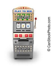 máquina slot, machine., gamble