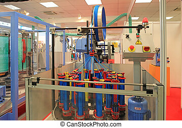 máquina, soga, tejer