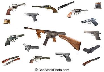 máquina, thompson, arma de fuego