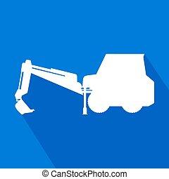 máquina, trabalho, ícone