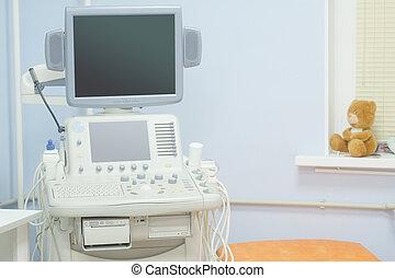 máquina, ultrasonido, diagnóstico