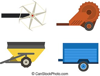 máquina, vetorial, technic, harvester