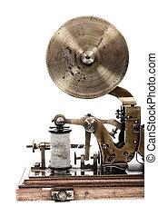 máquina, viejo, telégrafo