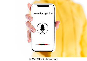 máquina, voz, learning., reconhecimento