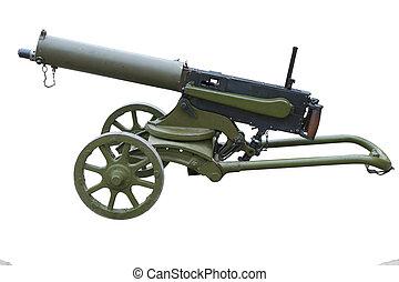 máquina, wwi, arma de fuego