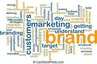 márka, marketing, wordcloud